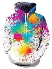 Unisex Realistic 3D Print Pullover Hoodie Colorful Pattern Hooded Sweater