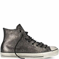 772d2ba7b42 Converse John Varvatos Metallic Leather Reptile All Star Hi Sneakers  145390C New