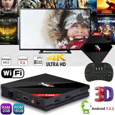 H96pro+ Android 7.1 Smart TV BOX 2+16GB Dual WIFI Media Player 4K Movies HDMI