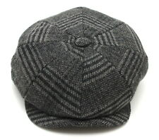 Tommy Shelby Peaky Blinders Mens Newsboy Style Cap GREY & BLACK CHECKED WOOL WF