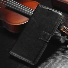 Black Leather Flip Wallet Case Cover Apple 6+ 6 6s 7 8 Plus 5s 5 SE 5c XR Xs Max