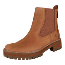 Timberland Women's Boots Courmayeur Valley Chelsea Boat Shoes Sundance (Brown)