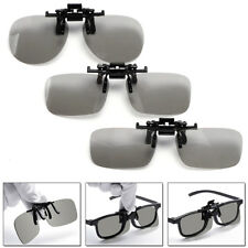Pack 2 RealD 3D Imax Glasses Passive Polarized Black Movie Cinema Films TV