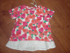 BNWT BABY GIRLS JOULES LULABELLE STRAWBERRY TOP AGE 3-6,6-9,9-12 or 12-18 months