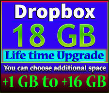 Upgrade Dropbox Account Up To 18GB For Lifetime (+1 GB to +16 GB)