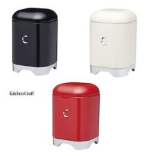 KitchenCraft Lovello Coffee Storage Tins in Black, Red or Cream
