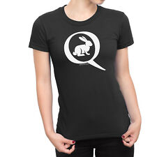 Ladies T-Shirt Q ANON United States US Novelty Conspiracy Theories