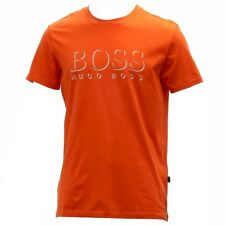Hugo Boss Men's Cotton Logo Medium Orange Crew Neck Short Sleeve T-Shirt
