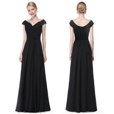 Long Formal Women Black Cocktail Party Dresses Christmas Evening Prom Gowns