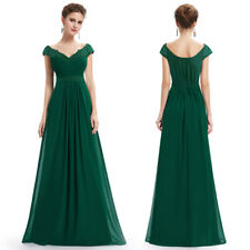 Women Long Cap Sleeve Formal Gowns Evening Party Dresses Cocktail Prom Gowns