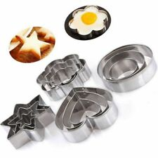 Cake Omelette Round/Heart/Flower/Star Shape Cookie Cutter Biscuit Mold Stamp
