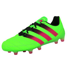 6355ddf0014f Adidas Performance ACE 16.1 FG AG LEAT Shoes for Football Man Leather Green