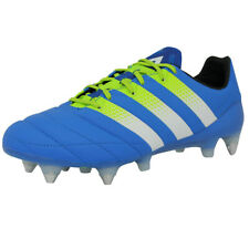 new arrival d6145 fecc7 Adidas Performance ACE 16.1 SG LEATHER Shoes for Football Man Blue Yellow B