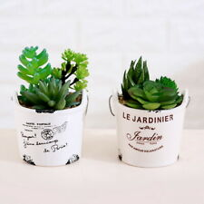Artificial Faux Succulent Plant in Pot Fake Floral Home Garden Decoration