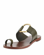 a4c759950da59b Tory Burch Marge Studded Sandals White Gold Tumbled Leather US ...