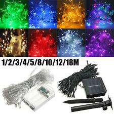 1-50M Battery/Solar LED Wire String Fairy Light Outdoor Wedding Christmas