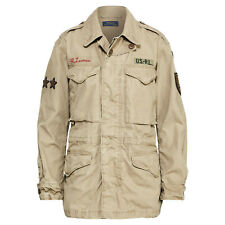 b544cb819f4 Women s Ralph Lauren Polo Canvas Embroidered Military Combat Jacket New