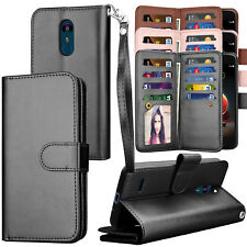 For LG Tribute Dynasty /Aristo 2/ LV3 2018 Flip PU Leather Card Slot Wallet Case