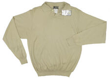 NEW Vintage 90's Gianni Versace Couture Mens Sweater!  Tan  Wool Silk & Cashmere