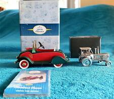 Kiddie Car Classic 1934 Christmas Classic Limited Time Edition & Tractor Clock