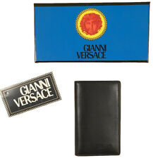 NEW IN BOX Vintage 90's Gianni Versace Business Card Holder!  Black Leather