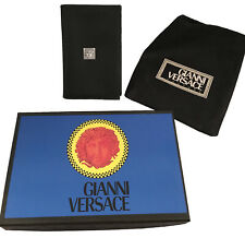 NEW IN BOX Vintage 90's Gianni Versace ID Card Wallet!  Black with Large Medusa