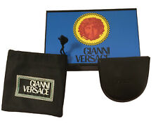 NEW IN BOX Vintage 90's Gianni Versace Coin Purse (Pocket)!   Black Leather
