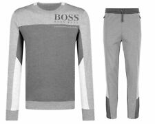 Hugo Boss Men's Saltech Helnio Gray Crew Neck Track Suit