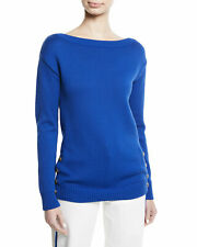 $850 Ralph Lauren Purple Label Collection Boat Neck Chunky Jersey Knit Sweater
