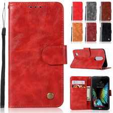 Luxury Flip PU Leather Magnetic Card Slots Stand Wallet Cover Case For LG Phones