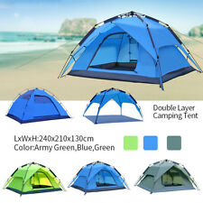Waterproof 3-4 Person Camping Tent Folding Quick Shelter Outdoor Hiking Camping
