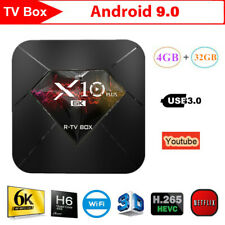X10 Plus 6K Smart Android9.0 R-TV Box Allwinner H6 4GB+32GB WiFi 3D Media Player