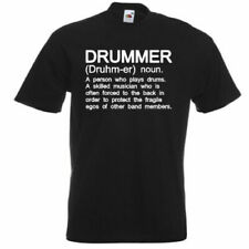 207f93f0d DRUMMER Funny Men's T-Shirt Musician Drums Drumming Definition Gift