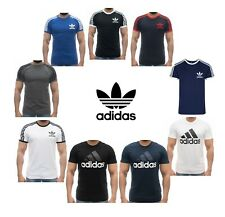 Adidas T-Shirts Men California Originals Retro Essentials Crew Neck Short Sleeve