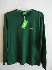 "NWT HUGO BOSS ""TOGN"" MEN'S LONG SLEEVE T-SHIRT COTTON GREEN"