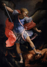 1575–1642 Michael the Archangel//Poster//Artist Guido Reni //Painting 17x22 in