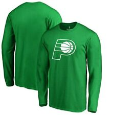 Indiana Pacers Fanatics Branded St. Patrick's Day White Logo Long Sleeve T-Shirt