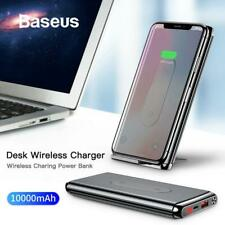 Baseus 10000mAh QI Wireless Charger Power Bank For iPhone Samsung PD + QC3.0 Fas