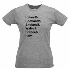 The Six Nations Womens TShirt Ireland, Scotland, England Wales, France, Italy