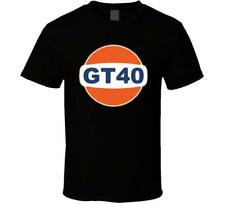 NEW GT40 AS GULF LOGO LE MANS 24HR WHITE BLACK MEN'S SHIRT USA SIZE S-XXXL RA1
