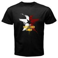 NEW INFAMOUS SECOND SON GAME LOGO MEN'S BLACK TEE T-SHIRT USA SIZE S-XXXL RA1