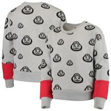 Ohio State Buckeyes Girls Youth Triumph All-Over Logo Pullover Sweatshirt -