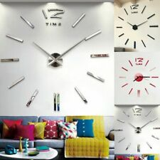 Large 3D Wall Mirror Decorative Mirrors Surface Wall Clock Sticker
