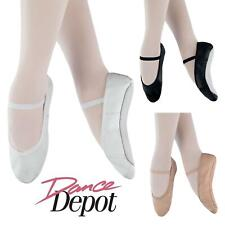 Dance Depot Womens Full Sole Ballet Shoes Black White Nude