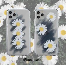 Fashion transparent simple daisy phone case cover for  iPhone 11 Pro XS MAX XR X