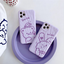 Fashion Luxury Cute Bear iPhone Case Soft Cover For  iPhone 11 Pro XS MAX XR X