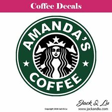 Starbuffs Coffee Car Van Sticker Decal Funny Logo Remake Stickers Starbucks