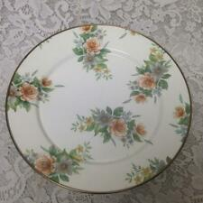 Mackenzie Childs Enamelware 12in Antique White Floral Enamelware Serving Platter