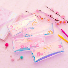 Cute Flower Laser Pencil Case Pen Pouch Stationery Makeup Bag Cosmetic 4 Types