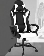 Racing Chair, Ergonomic Design High Back PU Leather with Rolling Swivel Wheels